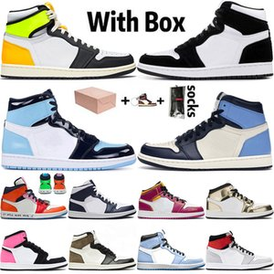retro 1 1s off white Jumpman 1 1s WITH BOX 2021 New Arrival 농구화 TWIST Volt Gold Mens Womens MID Obsidian UNC Chicago Trainers Sport Sneakers 36-46