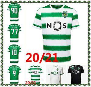20 21 Sporting CP Soccer Jerseys Phellype 2020 2021 Sporting Lisbon Vietto Football Shirts Coates Acuna Sporar Jovane Hombres Kit Kit Uniforme