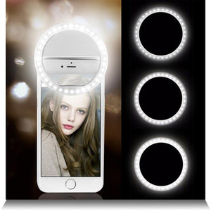 Selfie LED Ring Flash Lumiere Telephone Portable LED Mobile Phone Light Clip Lamp For iPhone xr telefoon lens lampka do telefonu