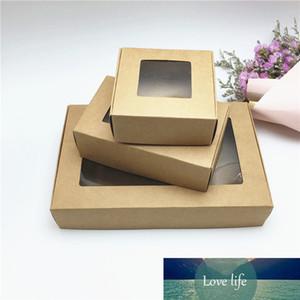 50pcs New 10Sizes Kraft Paper Aircraft Caixas de presente Handmade Sabão Embalagem caixa de jóia / Bolo / Artesanato / doces caixas de presente de papel