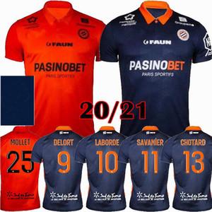 2020 2021 Montpellier HSC Soccer Jerseys Chotard Laborde Delort Mavidididi Accueil 20 21 Chemise de football S-2XL