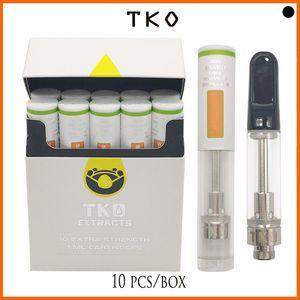 TKO EXTRACTS vape empty Ceramic Cell Glass Atomizer OEM LOGO cartridges No Leak 1.0ml Dank vapes carts fast shipping