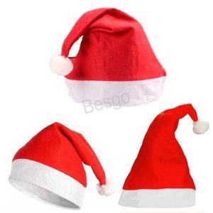 Costume di Natale cappelli del Babbo Natale dei bambini per adulti Natale Red Hat Xmas Party Cosplay Cappelli Decorazione di Natale Babbo Natale Caps BH3624 TQQ