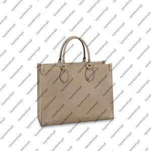 M45494 Женщины Ведро на ведро на воловьей кожаной кожи зернистое тело Реал мм Дингере Сумка Tote Clutch Shopping Neonoe Bag Bag Menpk