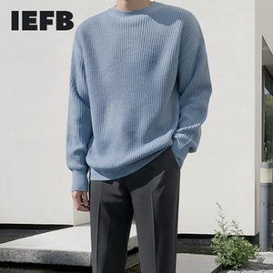 IEFB autumn winter Crew Neck Sweater men's loose Pullover bottoming kintted clothes for male Korean fashion warm kintwear 9Y4569