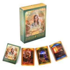 Tarot Deck-Party Das Spiel Tarot Oracle Divination Deck A Guidebook Gift Holiday Akasha-Karte Fate Spirituosen für und 62 yxlNFp loveshop01