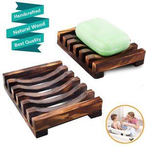 Banyo Duş Plaka Banyo Doğal Bambu Ahşap Sabun Bulaşık Yeni Ahşap Sabun Tepsi Tutucu Depolama Sabun Raf Plakalı Kutusu Konteyner