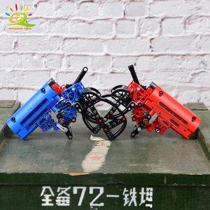 Huiqibao 156pcs Shooting Signal Game Gun Building Building Blocks Technic Weapon Brick FAI DA TE Giocattoli educativi per bambini Regalo del ragazzo 4Color BBYMRF