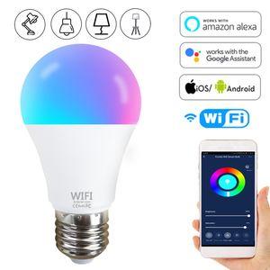 Smart WiFi Led Light Bulb 15W E27 B22 LED Smart Light Bulb Neon Changing Lamp 110-220V Siri Voice Control Alexa Google Assistant