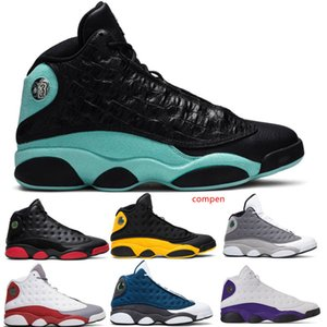 With Box Hot Cheap 13 13s Cap And Gown Island Green men women shoes Chicago Black Infrared Flints Bred Sport Sneakers