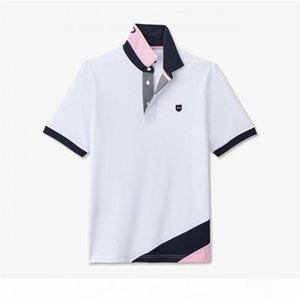 Embroidery Neck Eden Park 2020 New Strech cotton Men short sleeve shirts Homme High quality Trend Style Polos shirt M-3XL