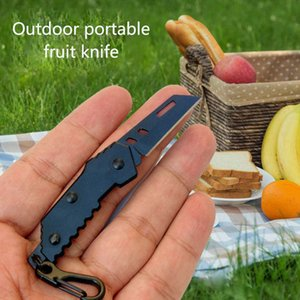 Mini Stainless Steel Folding Fruit Knife Outdoor Can Be Carried With You Flat Blade And Serrated Models For Free DHL