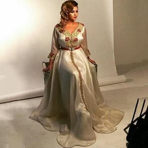 Cream Color Moroccan Kaftan Mother of the Bride Dresses Evening Dress Vestido de Renda Groom Mother Formal Evening Party Dress