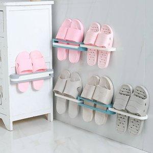 Hanging Shoe Rack Wall Mounted Bathroom Shoe Storage Rack Hanging Shelf 3 In 1 Shoe Holder Wall-mounted household slippers rack