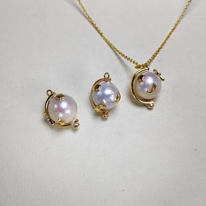 Natural Freshwater Pearl Pendant Globe Pearl Pendant for Women Fashion Jewelry Handmade Fine Jewelry 6pcs lot