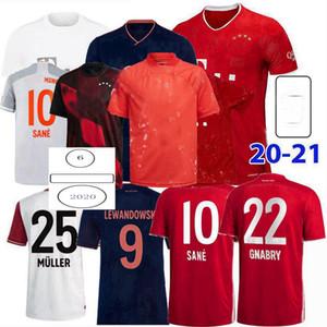 2019 2020 2021 Soccer Jerseys Pavard Neuer Muller Lewandowski Monaco di Baviera sane 120 anni 20 21 Camicia da calcio 4XL