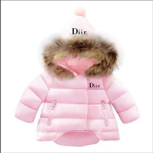 2020 Marca Bebé Chaquetas de invierno Luz Niños Blanco Pato Abrigo Abrigo Bebé Chaqueta para niñas Muchachos Parka Outerwear Sudaderas con capucha Puffer
