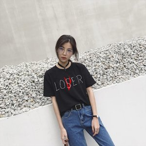 Custom Printed Tops Hipster Movie It Losers Club Tee Men Women Casual Cotton Short Sleeve Loser Lover It Inspired T Shirt Tops