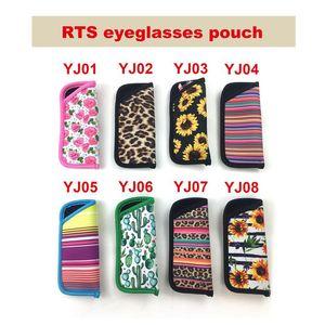 Lx2173 Art-Druck Regenbogen-Leopard-Sonnenblume-Tasche Neopren Mermaid 8 Eye Brillen Beutel Fabrik Rts Großhandel Fdsvx