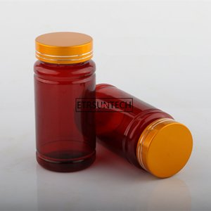 Empty Medicine Capsules Refillable Bottle, Brown Convenient Tablets Pills Packing Container F2028good qualtitygood shopping