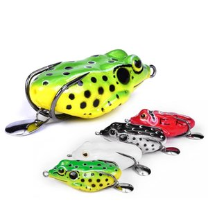 55mm 10.5g Soft Ray Frog Fishing Lures With Metal Sequins Top Water Artificial Bait Double Hooks Frog Lure Fishing Tackle