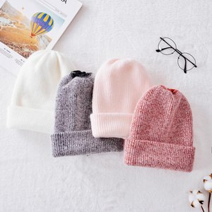 Autumn Winter Rabbit Hair Winter Skullies Hat Fashion Warm Beanies Hats Casual Women Solid Adult Rabbit Caps Cover Head 201008