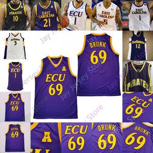 East Carolina Ecu Pirates Basketball Jersey NCAA College Jayden Gardner Tristen Newton Seth Leday Brandon Suggs J.J. Miles Blue Edwards.