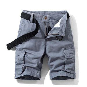 Luulla Homens Verão New algodão de 100% de carga Shorts clássico Homens Moda Pockets Sólidos Legwear carga Shorts Big Alto