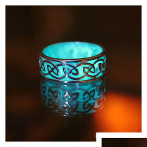 Europe And The United States Big Luxury Retro Carved Luminous Ring Maya Mysterious Geometry Adjustable Adjus sqcxbL queen66
