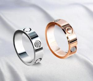 Boutique Hot Boutique 316L Amor Aço Unhas de Aço Anéis Amantes Band Rings Tamanho Para Mulheres e Homens Marca Jóias com Saco