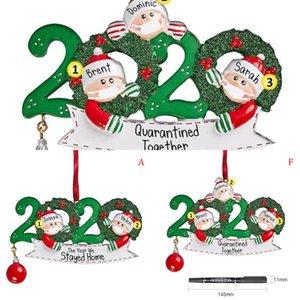 Año Nos alojamos en casa Holiday 2020 Decoraciones Ornamento de Navidad Árbol de Navidad Decoración 3EH8