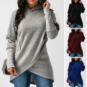 New Women Long Sleeve Hoodie Sweatshirt Jumper Pullover Top Coat Winter Ladies Female Casual Warm Brief Hooded Tops