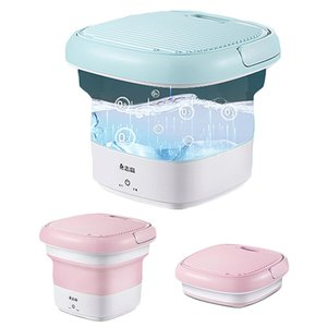 Mini Folding Washing Machine Portable for Underwear Socks Semi-automatic Sterilization Washing Home Machine Ozone Sterilization