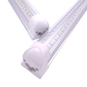 V-Shaped 2ft-8ft 144W Cooler Door Led Tubes T8 Integrated Led Tube, Double Sides Led Lights,72W 100W 85-265V Stock In US