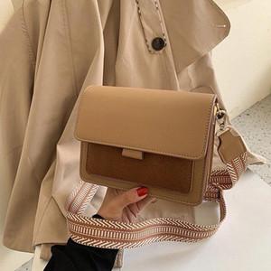 тим новых женщин сумка плеча Мода Матовый Широкий ремень Сумка Дикий Коммуникатор малый квадрат Trend Square Женщины Дешевые сумки Shoulde 24e0 #
