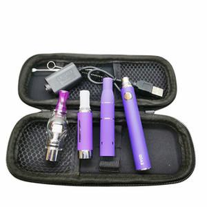 Recenti 3in1 vaporizzatore sigaretta Starter Kit evod batteria MT3 eliquid cera globo di vetro fa atomizzatori erbe secche 3 in 1 penne Vape