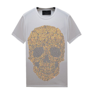Multiples styles Summer Casual Hommes T-shirts T-shirts Strass à manches courtes à manches courtes Tops Slim Crew Col Tee Coton mercerisé