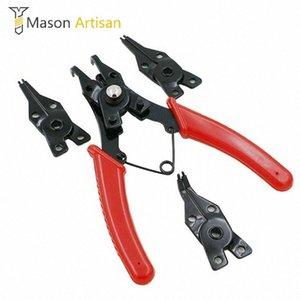 4 in 1 multifunzionale Anello elastico pinze Multi Tools Multi Crimp strumento esterno interno Anello di rimozione anello di sicurezza Pinze eA5m #