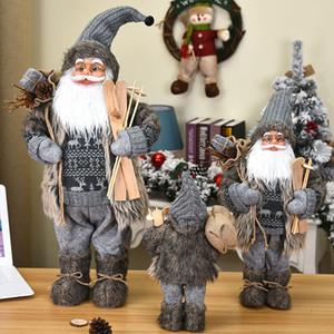 30 45 60cm 2021 New Christmas Decoration Santa Claus Doll Gift Christmas Tree Decor Creative Plush Santa Claus Toy Ornaments