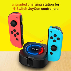 iPega PG-9177 4 in 1 Charging Station Base Charger Dock 4 Charging Ports with Colorful Indicator for N-Switch JoyCon Controllers