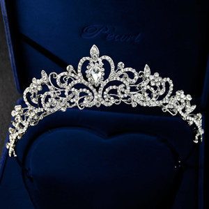 Europe and the United States high-end bridal tiara crown Princess tiara alloy rhinestone wedding dress crown wholesale