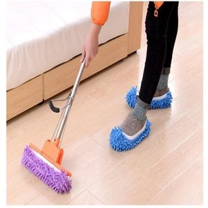 Fashion Lazy Mop Slipper Floor Candy Washable Reusable Microfiber Cover Color Soft Clean Shoe WY452Q