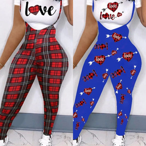 2021 Summer Women Clothes Designer Jumpsuits Rompers Bodysuits Overalls Suspender pants letter printed T-shirt set short sleeves H12203