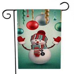 New Christmas Hanging flag Flax Santa Porta Banner Buon Natale ornamento all'aperto ornamento decorazioni natalizie per la casa Capodanno HWA2098