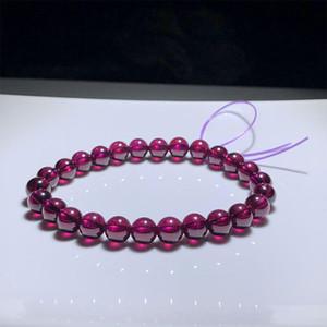 Factory Direct Sales Brazil Natural Garnet Garnet Bracelet Womens Korean-Style Garnet Bracelet Wholesale