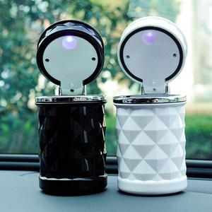Accessori per auto Universale Universale Luxury Portable LED Light Car Ashtray Portasigaretta Auto Styling Smoke Black Bianco Stoccaggio Tazza DHF4108