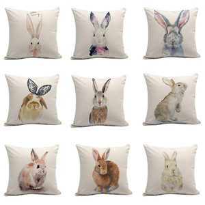 Paskalya Bunny Yastık Örtüsü Gold Coast Çok Renkli Yastık Kılıfı Yatak Odası Oturma Odası Kanepe Araba Arka Yastık 300 ADET T1I3492
