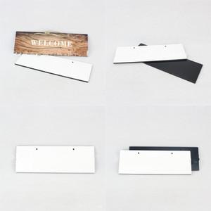 Сублимационные пустые домашние номера плиты прямоугольник висит домашний адрес знак белый MDF номера дверных номеров деревянные 7 95BD G2