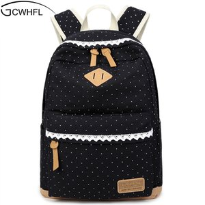 Cute Backpack High Quality Women Backpack Dot Printing Girls School Backpack For Teenagers Vintage Stylish Ladies Shoulder Bag 201012