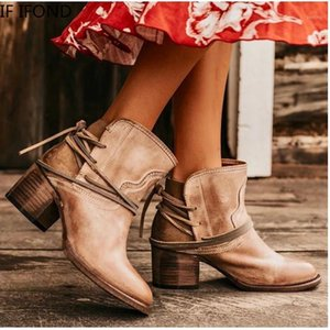 Se ivond moda donna elastico maiale scamosciato brogue boot impermeabile pelle lady autunno stivaletti caviglie da donna scarpe casual1